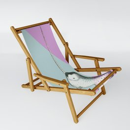 Narwhal Geometric Bright and Colorful Sling Chair