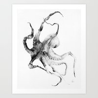greek Art Prints featuring Octopus by Alexis Marcou