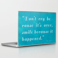 dr seuss Laptop & iPad Skins featuring Quote / Dr. Seuss by Justified