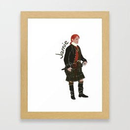 Jamie Fraser (Outlander) Framed Art Print