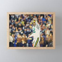 Packers Aaron Rodgers Framed Mini Art Print
