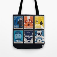 bond Tote Bags featuring Bond #2 by Alain Bossuyt