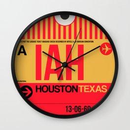 IAH Houston Luggage Tag 1 Wall Clock