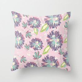 Pansy Pastels Throw Pillow