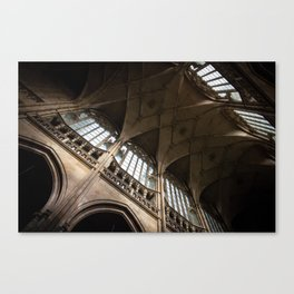Ceiling of St. Vitus Cathedral, Prague Canvas Print