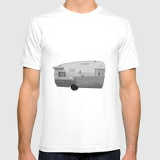Trailer Trash SMALL White Mens Fitted Tee