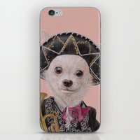 mexican iPhone & iPod Skins featuring Mexican Chihuahua by Rachel Waterman