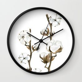 Cotton branches. Wall Clock