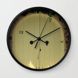door in alacati izmir Wall Clock