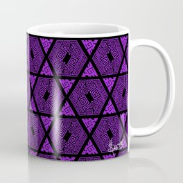 Kagome Greek Fret ... Purple Coffee Mug