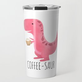 Coffee-saur | Pink Travel Mug