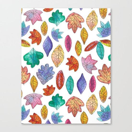 Watercolor Leafs Canvas Print