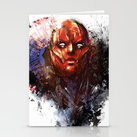 red hood Stationery Cards featuring Red Hood by Vincent Vernacatola