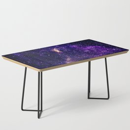 Ultra violet purple abstract galaxy Coffee Table
