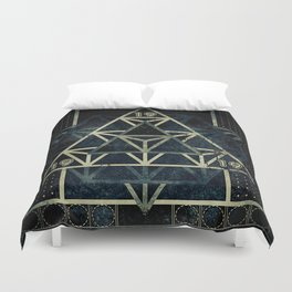 Sacred Geometry for your daily life - METATRON MATRIX Duvet Cover