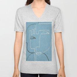 Abstract line art 39 Unisex V-Neck