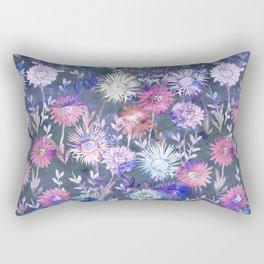 Gillian Floral Gray Rectangular Pillow