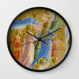 "Fra Angelico (Guido di Pietro) ""The Dormition and Assumption of the Virgin"" (4) Wall Clock"