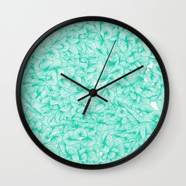 Knee-Deep in Turquoise Ink Wall Clock