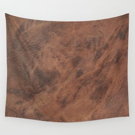 Old Tan Leather Print Texture | Cowhide Wall Tapestry