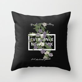 Harry Styles Ever Since New York illustration Throw Pillow