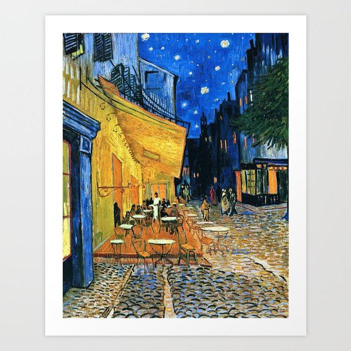 Vincent Van Gogh - Cafe Terrace at Night Kunstdrucke