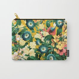 Tangerine Floral Pattern Vintage Carry-All Pouch