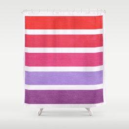 Red & Purple Geometric Pattern Shower Curtain