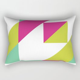 Hot Pink and Neon Chartreuse Color Block Rectangular Pillow
