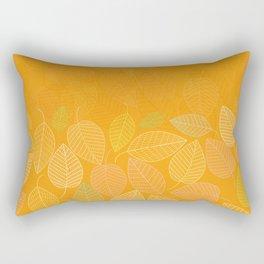 LEAVES ENSEMBLE ORANGE YELLOW Rectangular Pillow