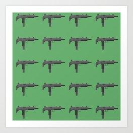 Uzi submachine gun Art Print