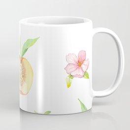 Peach fruit watercolor - Hand drawn ripe fruits Coffee Mug