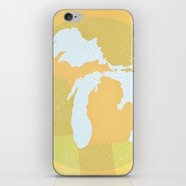 The GREAT LAKES of NORTH AMERICA iPhone Skin