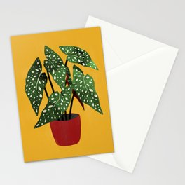 Begonia maculata pot watercolor Stationery Cards