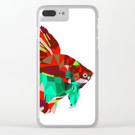 Betta fish Geometric artwork Clear iPhone Case