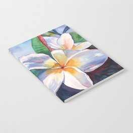 Tropical Plumeria Flowers Notebook