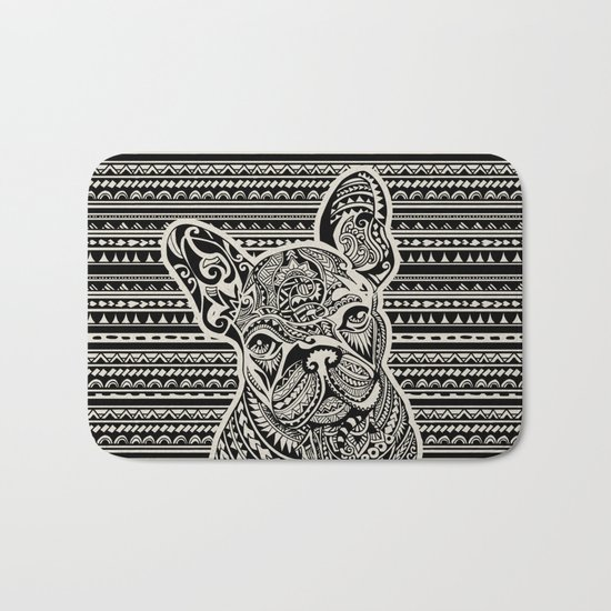 Polynesian  Frenchie Bath Mat