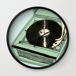 Record Player Wall Clock