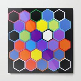 Happy Hexagons Metal Print