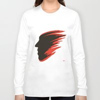 blur Long Sleeve T-shirts featuring Blur Face by Myles Hunt