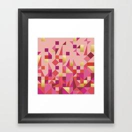 Valentine Quilt Framed Art Print