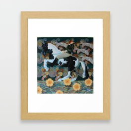 Fox and the horse Framed Art Print