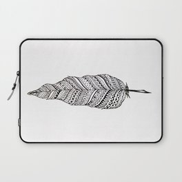 Aztec black and white feather Laptop Sleeve