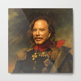 Mickey Rourke - replaceface Metal Print