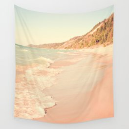 Her Mind Wandered Back and Forth With the Waves Wall Tapestry