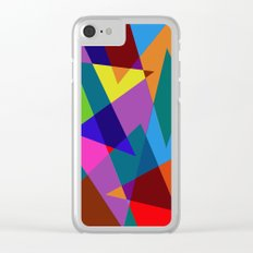 Abstract #342 Shapes & Colors Clear iPhone Case