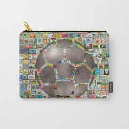 Soccer Ball on Philately Carry-All Pouch