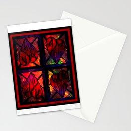 Mi Corazon (My Heart) - Symmetrical Art 3 Stationery Cards