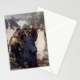Frederick the Great and his Marshals before the Battle of Leuthen Adolph Menzel Stationery Cards