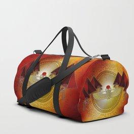 Egyptian sign, the scarab Duffle Bag